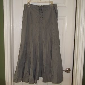 CAbi Olive Green Maxi Skirt Size S
